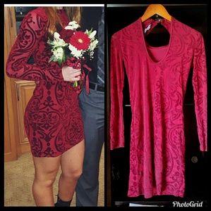Beautiful red high neck dress XS /S